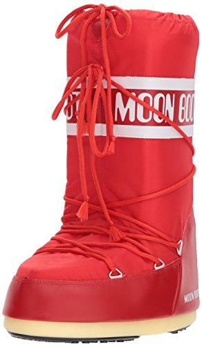 Bottes de Neige Fille Moon-boot Jr Girl Quilted Ladybug WP