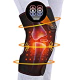 Heat Knee Massager for Knee Warm, Heat Knee Brace Wrap for Arthritis, Knee Heating Pad for Hot/Cold Therapy, Electric Heated Knee Pads Support for Pain Relief, 3 Temperature Control, 1PC for Men Women