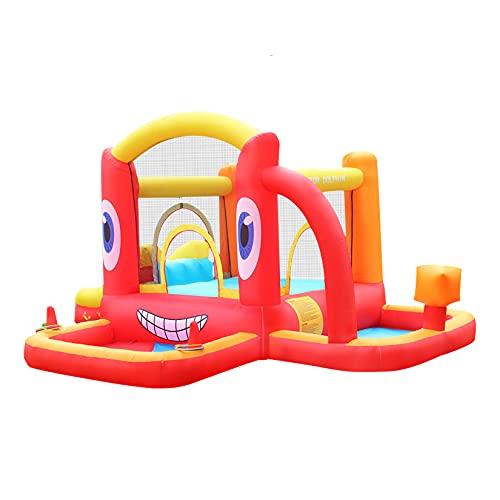 AIYIFU Castillo Hinchable Centro Juegos Hinchable con Tobogán para Niños para Parque Patio Jardín Kit de Reparación y Bolsa de Transporte,