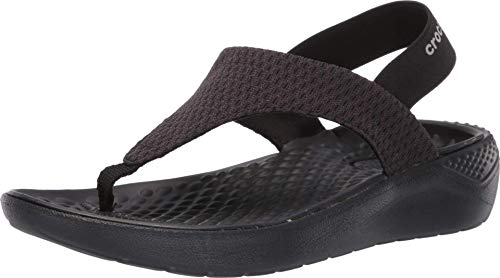 Crocs Women's LiteRide Mesh Flip Flop, Black, 5 M US