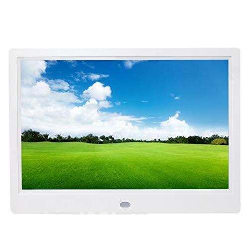 10 inch digitale fotolijst, 1280x800 HD-scherm met hoge resolutie, digitale fotolijst, foto/muziek/videospeler, kalenderwekker met 3,5 mm hoofdtelefoon/USB 2.0 voor geschenken (wit)