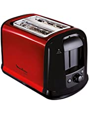 Moulinex LT261D Toster Subito, czerwony metaliczny, czerwony, czarny