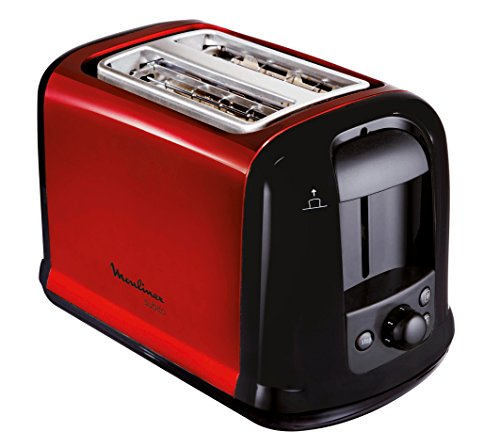 Moulinex LT261D Toaster Subito, rot metallic,Rot, Schwarz