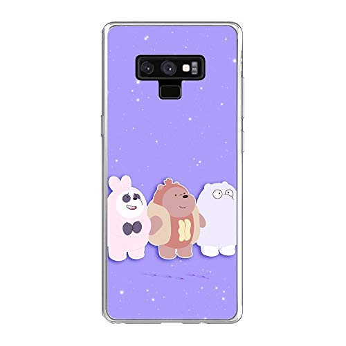 We Bare-Bear Animated 9, Case for Samsung Galaxy Note 9, Clear Soft TPU Protective Phone Cover