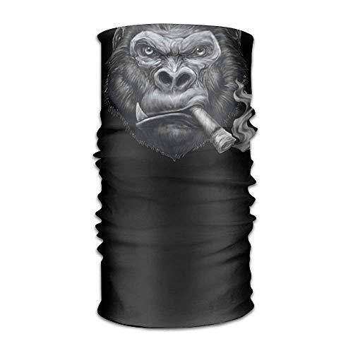 Vidmkeo Chimp Smoking 16-in-1 Magic Scarf,Face Mask,Fishing Mask,Thin Ski Mask,Neck Warmer Balaclava Bandana for Raves,Dust,Riding Bike,Motorcycle,Outdoor Activities New6