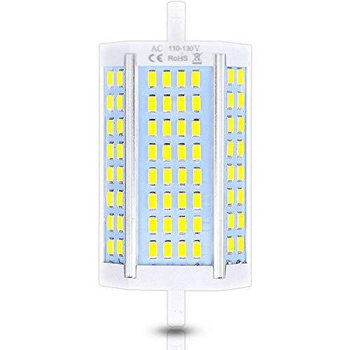 NOBUNO High Power 118mm LED R7S Light 30 W Dimmable J118 R7S Lámpara sin Ventilador Reemplazar 300 W Lámpara halógena AC110-240V,Blanco