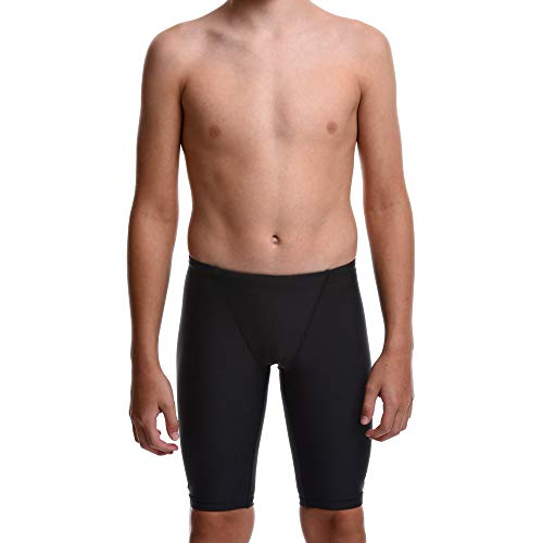 Flow Ignite Swim Jammers - Size 24 to 30 Swimming Jammer Shorts for Boys in Blue, Green, Red and Black (30 Black)