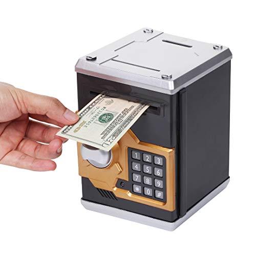 Dazmers DT3545 Hucha electrónica de cajero automático con contraseña y Caja de ahorros para niños