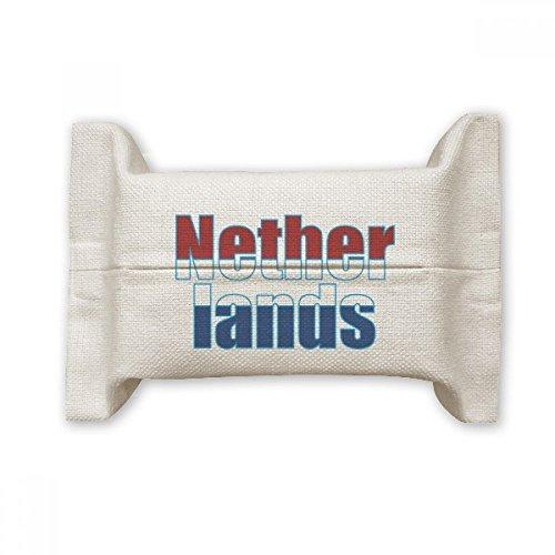 DIYthinker Nederland Land Vlag Naam Katoen Linnen Tissue Papier Cover Houder Opslag Container Gift