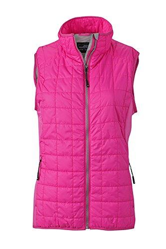 James & Nicholson Damen Hybrid Vest Outdoor Weste, Rosa (Pink/Silver), 42 (Herstellergröße: XXL)