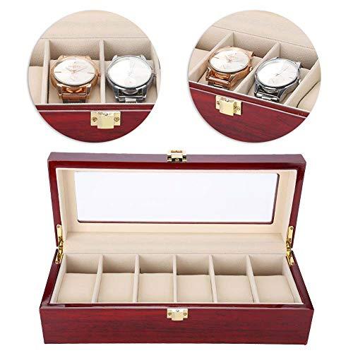 TMISHION Caja de Relojes con 6 Compartimientos, Reloj de Madera Caja de...