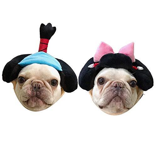 XpFac Store Sombreros de Animales, Perros, Headwear, Accesorios, Gatos, Kimono, Ropa de Lucha, Ropa de Shiba Inu, Ropa de Corgi (Color : Blue, Size : Large)