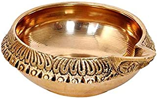 PARIJAT HANDICRAFT Brass Tradition kuber Diya for Home Decor Pooja Diwali Gift puja Article (2)