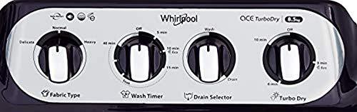 Whirlpool 8.5 Kg 5 Star Semi-Automatic Top Loading Washing Machine (ACE 8.5 TURBO DRY, Purple Dazzle)