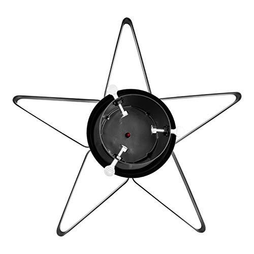 The Christmas Workshop 70879 70879-Supporto Natale a Forma di Stella, per Alberi Fino a 2,8 m di Altezza e 9 cm di Diametro, Contiene 0,9 l di Acqua, 47 cm x 47 cm x 14 cm, Nero, Star Shape