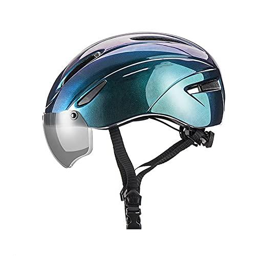 Ciclismo Certificación CPSC American Standard Ampliación Gafas Electromagnéticas Forro Extraíble Cola Alargada Vía Aérea 7 Orificios para Adultos(57-62CM)