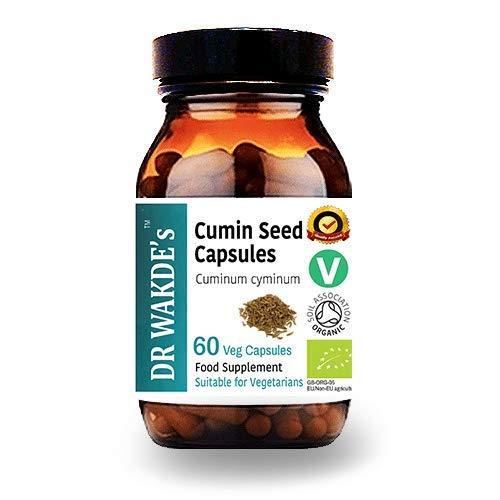 DR WAKDE'S Kreuzkümmel-Kapseln (Cumin) I 100% Kräuter I 60 Vegetarische Kapseln I Ayurvedische Nahrungsergänzung I KOSTENLOSER VERSAND auf mehrer