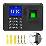 DERCLIVE 2. Registrador de Reloj Biométrico de Reloj de Tiempo de Máquina de Asistencia de Huellas Dactilares de Pantalla de 4 Pulgadas Reino Unido / UE