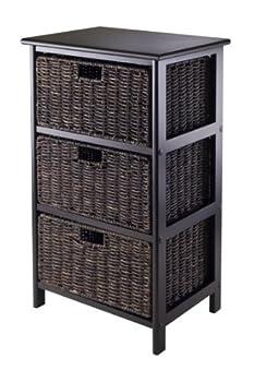 Winsome Omaha Storage/Organization 3 Baskets Black