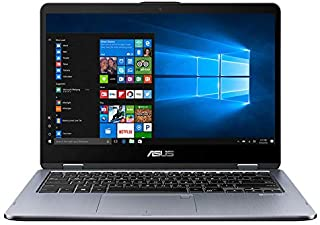Asus VivoBook Flip 14 TP410UF-EC065T  Convertible Notebook (Slate Gray) - Intel i5-8250U 3.4 GHz, 8 GB RAM, 1000 GB HDD+256GB SSD Hybrid, Nvidia Geforce MX130, 14 inches LED Windows 10, Eng-Arb-KB