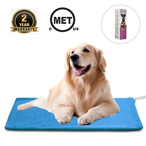 MARUNDA Pet Heating Pad ,Dog Cat Heating pad Indoor Waterproof,Auto Constant Temperature Warming 15x24 inches Bed with Chew Resistant Steel Cord