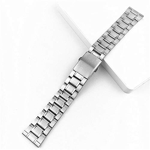 ZZDH Correas Relojes Acero Inoxidable 12mm 14mm 16 mm 18 mm 20 mm 22 mm de Acero Inoxidable Reloj de Reloj de Relojes Hombres Metal de Metal con Hebilla Plegable Correa Pulsera Accesorios de Banda de