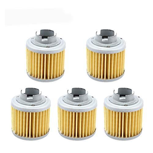 5pcs / pack Filtro de aceite de motocicleta para YX 150cc 160cc 190cc ZS190 MOTOR BIKE BIKE BIKE (Color : A)