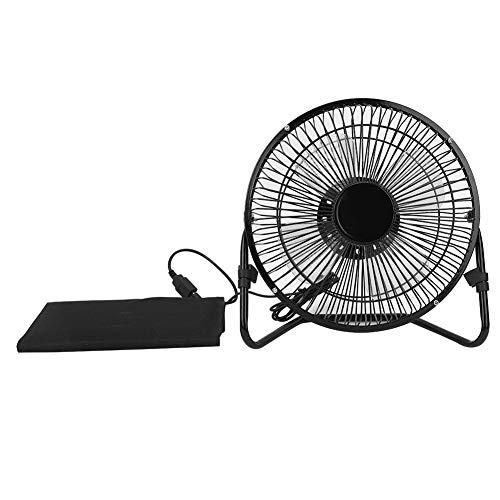 Alomejor Ventilador de Panel Solar Ventilador de Camping USB de 8 Pulgadas Ventilador de enfriamiento con Cargador de teléfono Plegable de Bolsa de energía Solar para Pesca