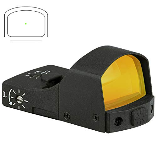 Pecawen Pistol Green Dot Sight, 3 MOA Green Dot Sight Scope Open Reflex Sight Scope Compact Green Single Dot Scope with Weaver/Picatinny Mount for Outdoor