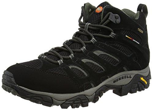 Merrell MOAB MID GTX J584597, Scarponcini da escursionismo e trekking uomo, Nero (Black), 43 EU