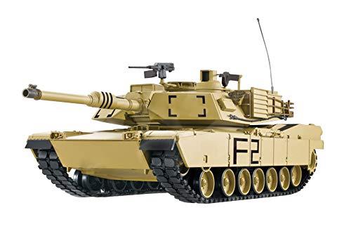RC Panzer 1:16 U.S.M1A2 Abrams 2.4 GHz Wüstenlackierung - Rauch&Sound
