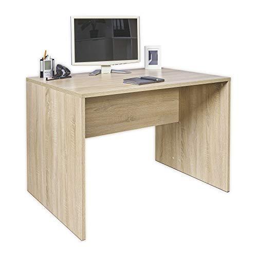 Schreibtisch Kinder - Arbeitstisch - [Funktional und Robust] - PC Tisch - Bürotisch - Büro Möbel -Gaming Tisch - Kleiner Tisch - Sonoma-Eiche ca.: B 110 cm x H 75,5 cm x T 75 cm   Büro Tisch