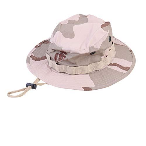 BESPORTBLE Militärischer Sonnenhut mit Kartentasche Kinnriemen Sportjagd Angeln UV-Schutzkappe für Outdoor-Militär (Wüstentarnung)