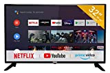 RCA RS32H2 Smart TV (32 Pouces HD Android TV avec Google Assistant, Google Play Store, Prime Video, Netflix) HDMI, USB, WiFi, Bluetooth, Triple Tuner (DVB-C / -T2 / -S2)