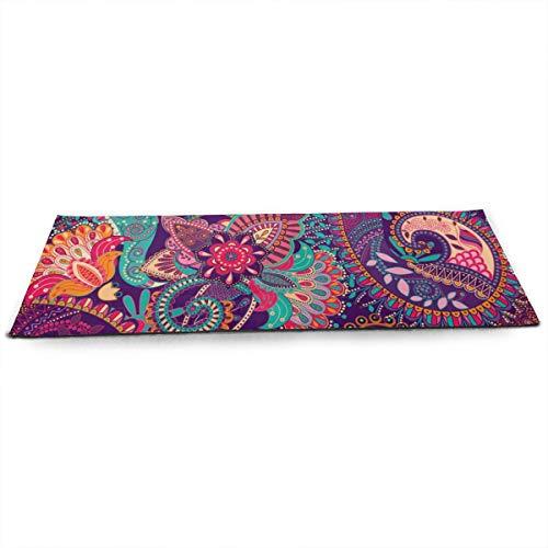 Love Lovely Womens Yoga Mats Paisley Pattern Non Slip 1/2