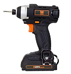 top 10 wen cordless drill WEN 49135, Lithium-ion battery, up to 20V, 1/4 inch impact wrench, battery, bit, charger, with carrying case