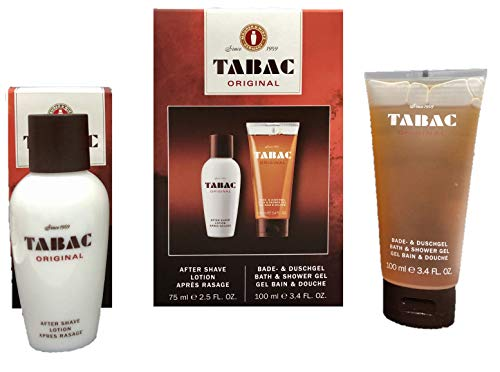 Tabac Duo Geschenkset Original, After Shave Lotion 75ml + Bade und Duschgel 100ml