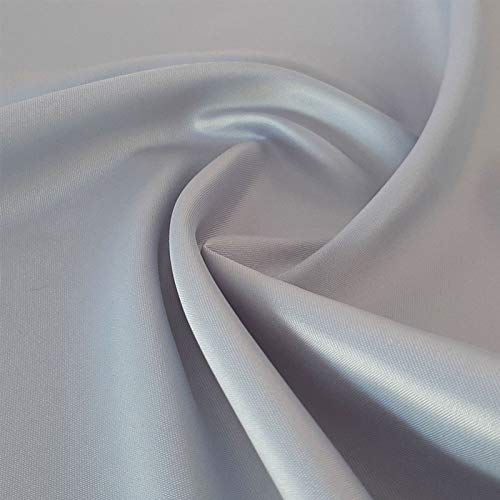 Satin Julie - Edler, leichter Bekleidungsstoff - Beidseitig verwendbar (Matt/Glänzend) - per Meter (Silbergrau)