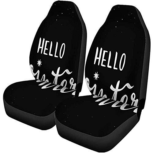 Enoqunt autostoelhoezen, Vrolijk nieuwjaar, Vrolijk Kerstmis Holly Jolly Hello universele hoes voor voorstoelen