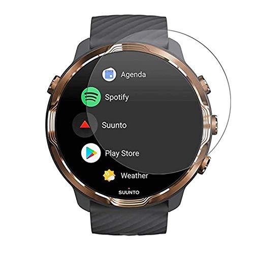VIESUP Displayschutzfolie für Suunto 7 Smartwatch, gehärtetes Glas, HD klar, kratzfest, volle Abdeckung, Displayschutzfolie für Suunto 7 [2er-Pack]
