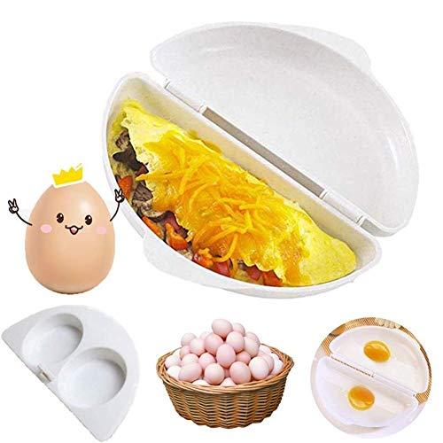 LMFLY Egg Eierkocher Mikrowellenofen Gewidmet Küchenhelfer Gekochte Eier, Gedämpfte Eier Omelette Eierkocher Küchenform