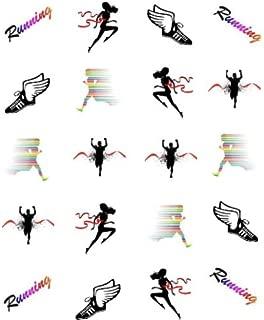 40 Sports Runner (Marathon/Cross Country) Nail Art Designs Decals