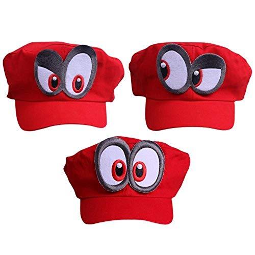 thematys Juego de 3 gorros Odyssey de Super Mario para adultos y niños, perfecto para carnaval y cosplay