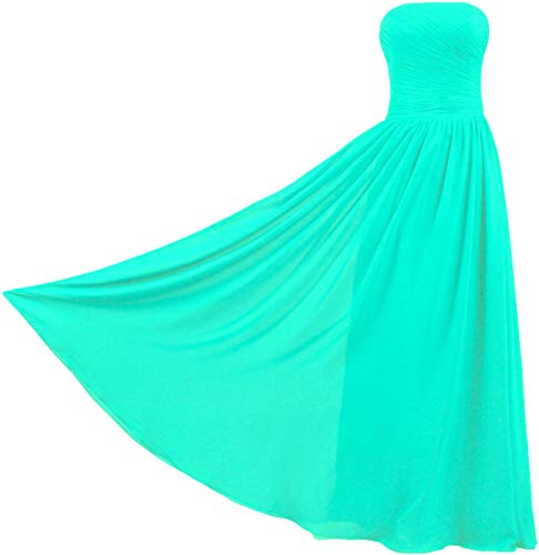 ANTS Women's Vintage Strapless Long Bridesmaid Dresses Chiffon Gown Size 26W US Mint