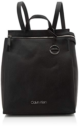 Calvin Klein Damen Sided Backpack Rucksack Schwarz (Black)