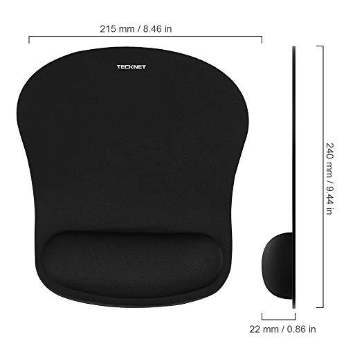 Mauspad mit Gelkissen | TECKNET Wasserdicht Ergonomisches Komfort Mousepad Office Mat Gel mit Handgelenkauflage für Computer und Laptop - 6
