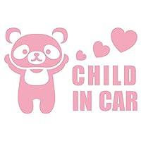 imoninn CHILD in car ステッカー 【パッケージ版】 No.12 パンダさん (ピンク色)