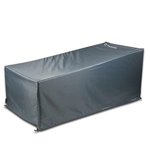 Trustar - Funda para tumbonas de patio, 81 pulgadas, impermeable, anti-UV, para jardín, exterior, color gris