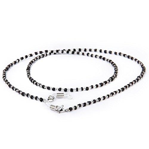 WINOMO WINOMO Kristall Perlen Brillenkordel Brillenband Sonnenbrille Kette kordel Inhaber Halskette 60cm - 1 Stück