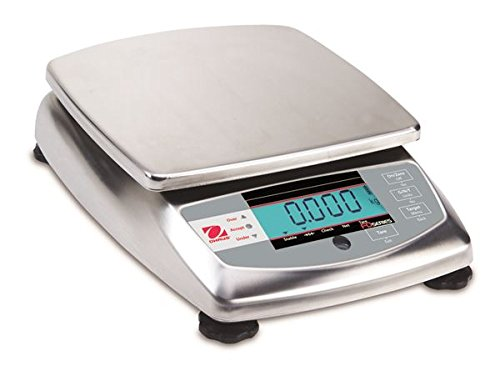 Ohaus FD6H FD Series Stainless Steel Food Portioning Scale, 15lb Capacity, 0.001lb Readability